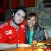 Celebrando con amigos en el bar Chamucos de Ciudad Juarez: Patricio Carmona y Rocio Gallardo. Foto: Jesus A. Nava / Especial para El Paso y Mas.