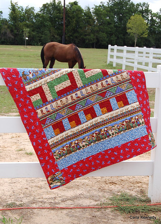 2013 09-07 Harrison Bell's quilt with horses