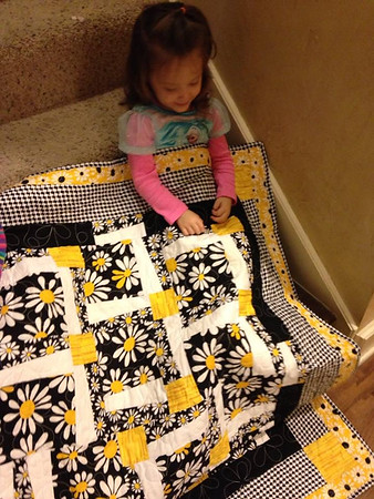 2014 11-14 Logan Bell and her Quilt