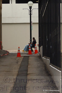I saw these two men sitting at the end of the alley by the Hermitage Hotel off 6th Avenue.  I'm not sure what they were waiting for.