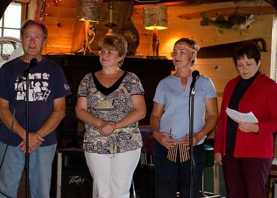 Vaughn, Nina, Nadya, and Lubov at Deer Lake Charlie's on August 11, 2011