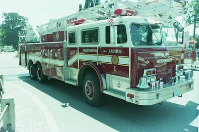 Church Fire-Bridgewater Ma. Bedford Street at School Street.