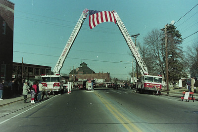 LODD Funeral Stoughton Ma. FF Victor Melendy 01/31/1995