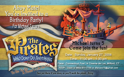 2008-01-27 Michael's message in a bottle birthday invitations