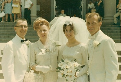1964 Bill Maria Elaine Gordy Wedding
