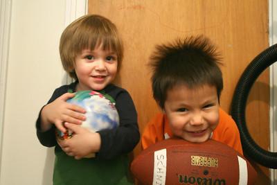 Julian (Courtney's little boy) and Dominic