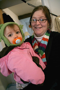 Jeremy's wife Courtney and her daughter Maddie.