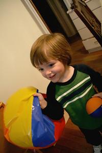 Julian playing with that sad beach ball.