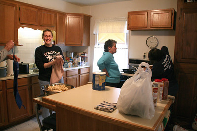 Tamale makin' time! Heather is far to excited.
