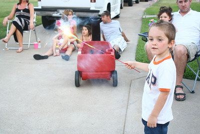 Julian playing with a sparkler
