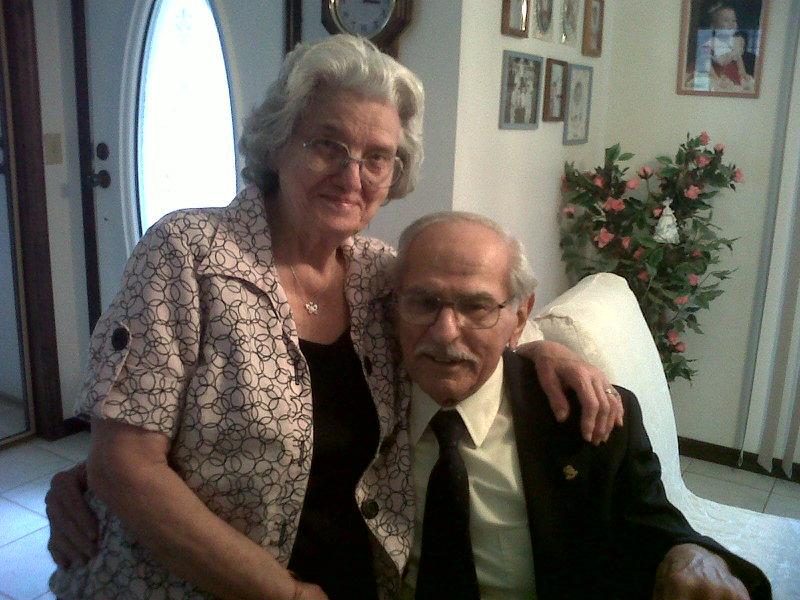 Rose & Dad Dad's 85th Birthday, March 2010