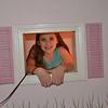 Juliana in her cubby