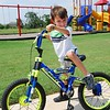 Silas learned to ride without training wheels