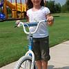 Sophia and her new bike