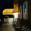 The porch at the Middlebury Inn