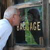 Bill checking out the old train station