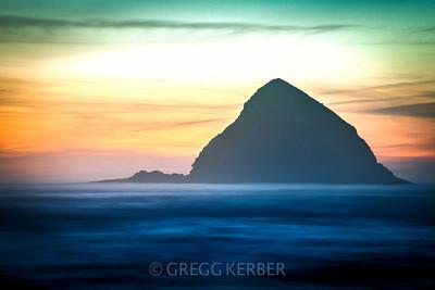 Sea Rocks at sunset