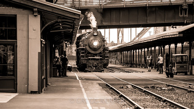 """SP&S 700 at Union Station. Featured on the cover of """"Whistle Up The Columbia"""", newsletter of the Pacific Railroad Preservation Association, August 2013"""