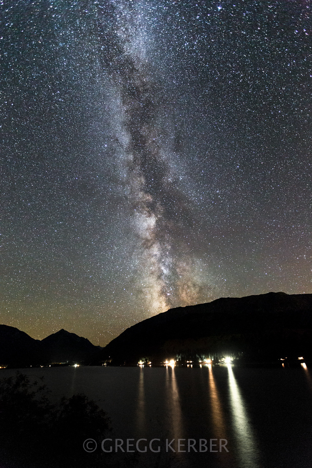 Milky Way over Wallowa Lake. Taken during the Wallowa Wanderlust workshop 2013. Join us in 2014 http://www.kerbercustom.com/discoverthelight/workshop/Wallowa2014.asp
