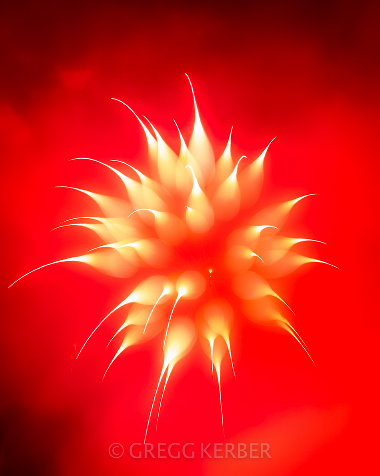 Fireworks (focus blur technique)