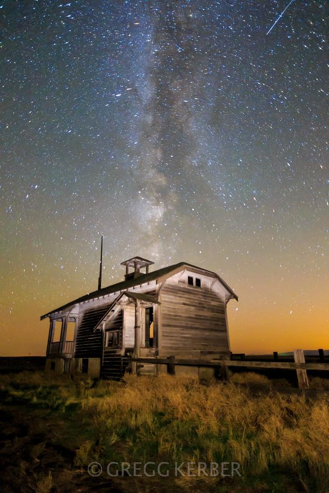 Secret Schoolhouse and the Milky Way. Join us for the Hidden Oregon workshop http://www.kerbercustom.com/discoverthelight/workshop/HiddenOregon-1_2014.asp