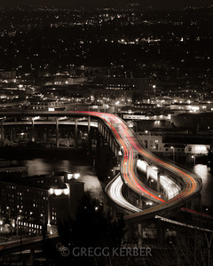 Light trails from OSHU
