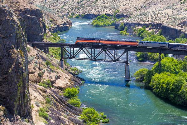 4449 Steam Train over the Deschutes River