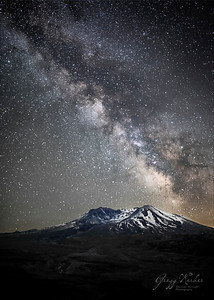 Milky Way over Mount Saint Helens