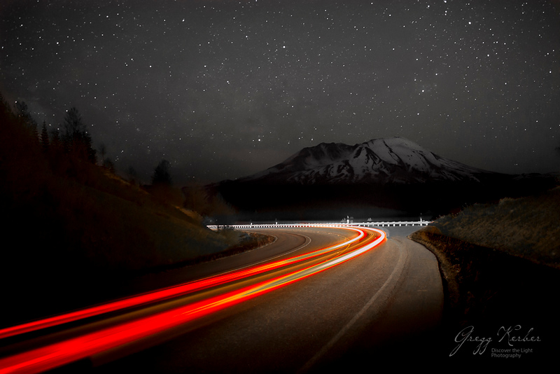 The road to Mount Saint Helens