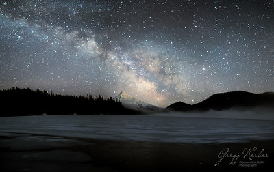 Milky Way over Mount Hood from Lost Lake