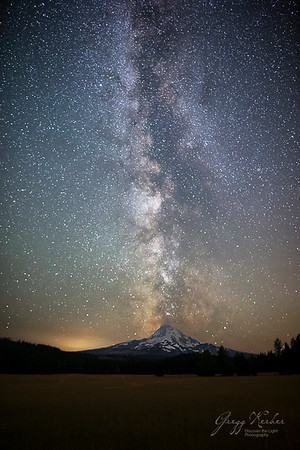Milky Way over Mount Hood