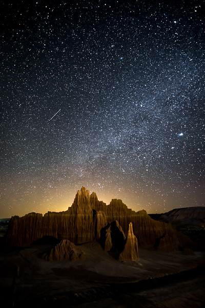 Stars at Cathedral Gorge SP, NV