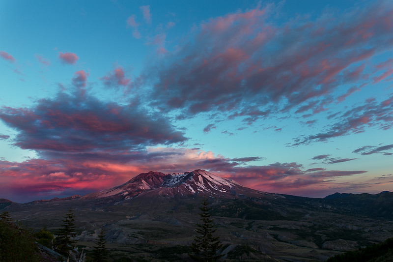 Sunset at Mt St Helens (Milky Way over Mt St Helens workshop)