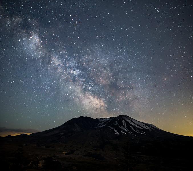 Milky Way over Mt St Helens workshop