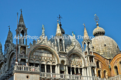 Rooftops of San Marco Cathedral, Venice, Italy