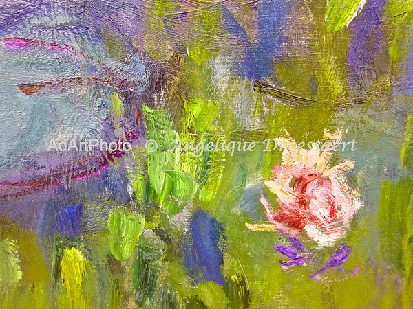 Detail pf a Monet painting, Neue Pinakothek, Munich, Bavaria