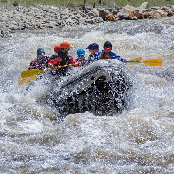Rafting on the Gallatin River near Big Sky - 2