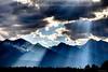 Smoky Mission Mountain Rays near Ronan