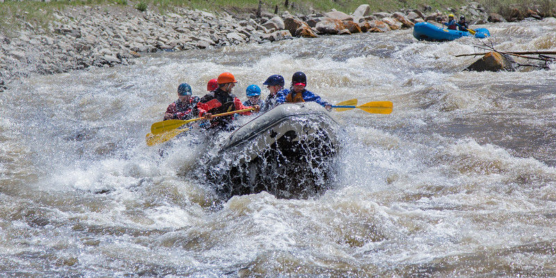 Rafting on the Gallatin River near Big Sky