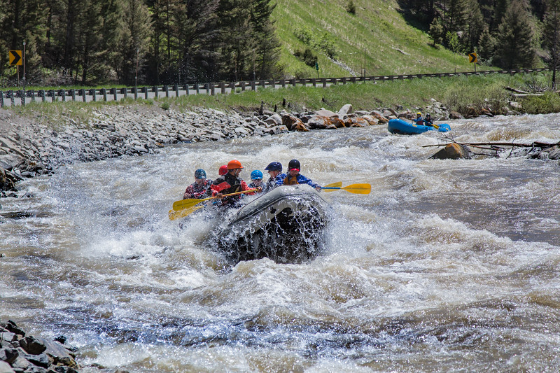 Rafting on the Gallatin River along Highway 191 on the way to Big Sky Resort