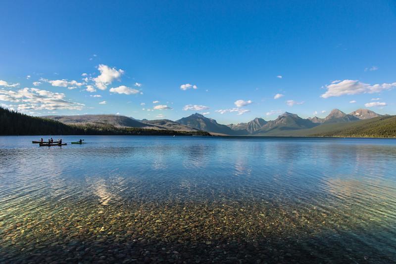 Enjoying summer on Lake McDonald in Glacier National Park