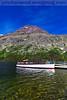 Tour boat on Two Medicine Lake in Glacier National Park