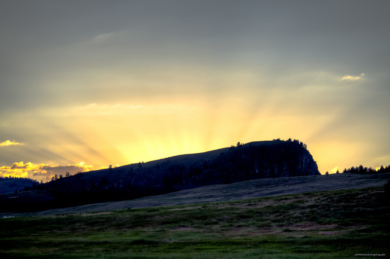 Buffalo Jump Sunset near Elmo on Flathead Lake