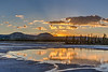 Sunset over the Grand Prismatic Spring in Yellowstone National Park - 2
