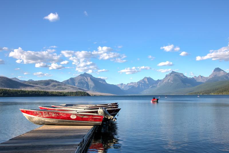 Boating on Lake McDonald in Glacier National Park