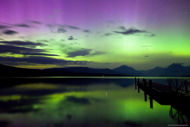 Northern Lights over Lake McDonald, Glacier Park
