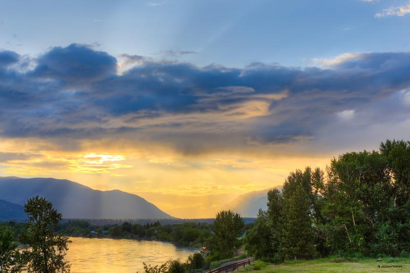 Rain, Sun, and Clouds over the Clarksfork River near Plains Montana - 2