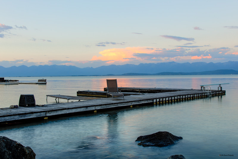 The lounger is calling on Flathead Lake in Lakeside Montana