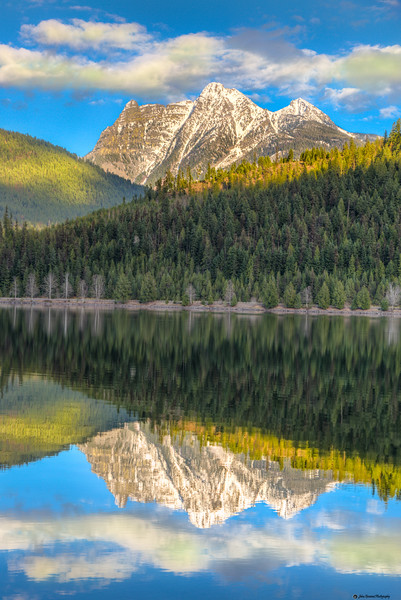 Ibex Peak Reflection on Bull Lake