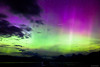 Northern Lights & shooting stars above Lake Mc Donald in Glacier National Park.